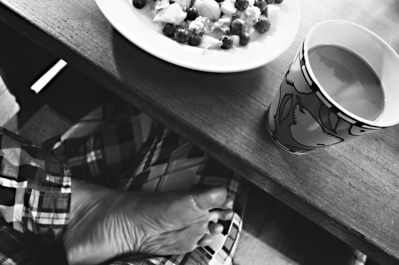 Breakfast b & w copy